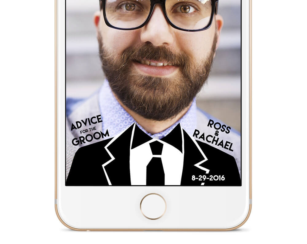 Advice for the Groom Snapchat Geofilter